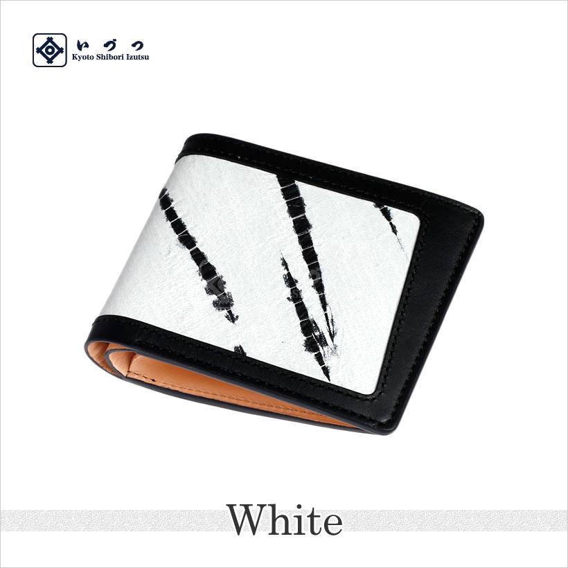 竜巻絞り二つ折り財布 ホワイト画像