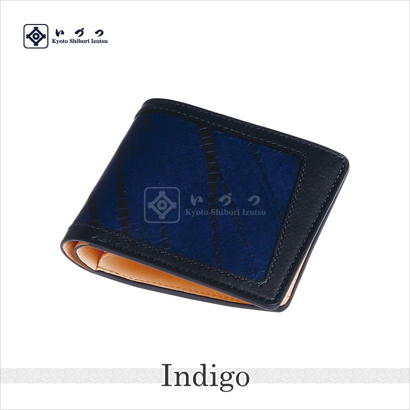 竜巻絞り二つ折り財布 インディゴ画像