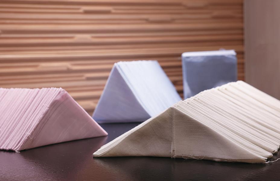 京都いづつ 染色体験 浴衣 着物 ご希望の柄により、生地の畳み方が変わります。